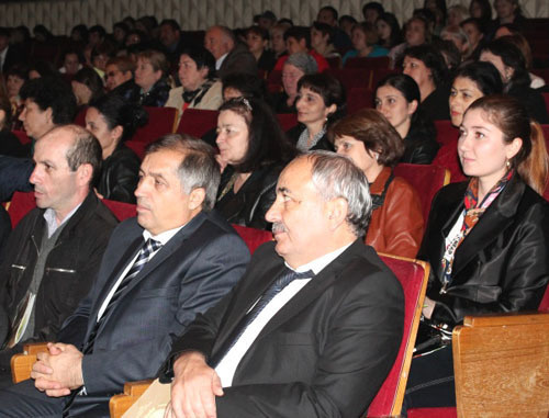 "Audience attending opening ceremony of the 7th festival of documentary films and authors' TV programmes ""Kunaki"". Cherkessk, October 16, 2013. Photo: http://www.kchr.ru"