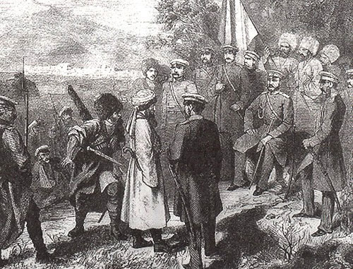 Surrender of Imam Shamil  (P.Z.Zakharov-Chechenets). Photo: http://ru.wikipedia.org
