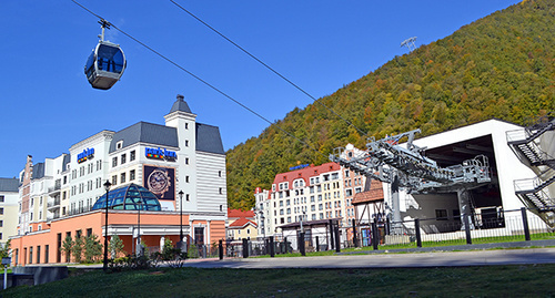 Roza Khutor Alpine Resort. Photo by Svetlana Kravchenko for the 'Caucasian Knot'.