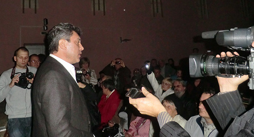 "Boris Nemtsov at the ""Conference of the civil activists"" on October 16, 2011, Krasnodar. Photo by Natalya Dorokhina for the ""Caucasian Knot"""