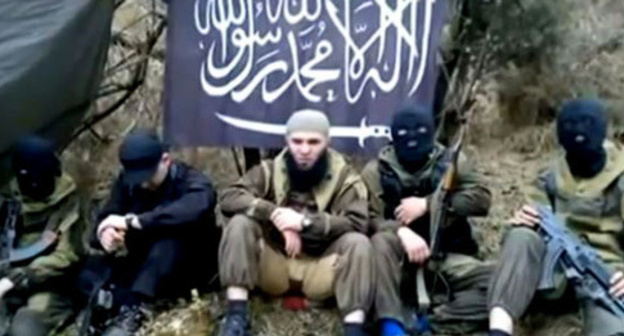 "Militants of ""Imarat Kavkaz"" recognized in Russia and the US as a terrorist organization. Photo: http://rus.azattyq.org/content/dagestan-ubit-glava-imarata-kavkaza/26969288.html"
