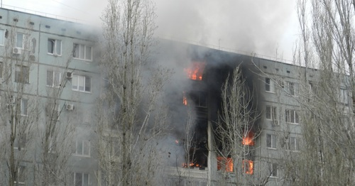 Explosion in a residential house in Volgograd, December 20, 2015. Photo by Tatiana Filimonova for the 'Caucasian Knot'.