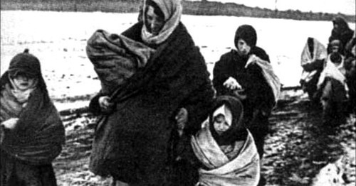 Deportation of the Chechen people. February 1944. Screenshot of a video by the user vainakh38 https://www.youtube.com/watch?v=DKmb-WX0OI0