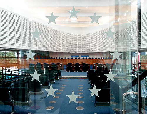 Inside the building of the European Court of Human Rights. Photo: © Council of Europe/www.flickr.com/photos/councilofeurope