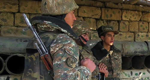 "Soldiers of the Nagorno-Karabakh Republic Defense Army. December 2015. Photo by Alvard Grigoryan for the ""Caucasian Knot"""