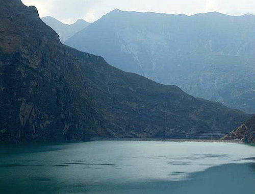 "Irganai water body. Photo by the Dagestan Branch of the OJSC ""RusHydro"""