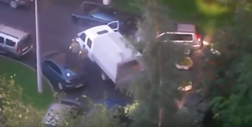 Special operation at the residential building in Leninsky Avenue in Saint Petersburg. Screenshot of the video posted by user North and We, https://www.youtube.com/watch?v=F1DuAQpkv70