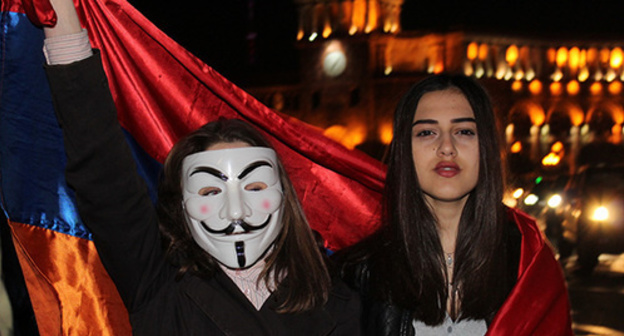 "The participants of the action in Yerevan. Photo by Tigran Petrosyan for the ""Caucasian Knot"""