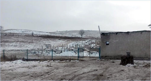 Cemetery. Black spot is a place of mass graves. Photo by Nikolai Petrov for the 'Caucasian Knot'.