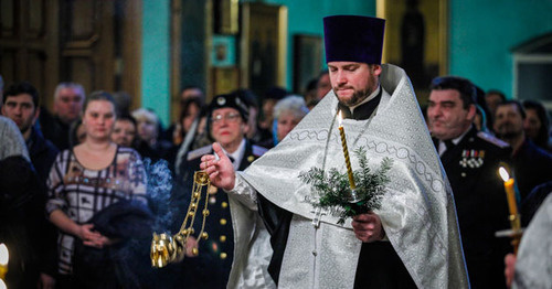 Christmas liturgy. Photo by Aziz Karimov for the 'Caucasian Knot'.