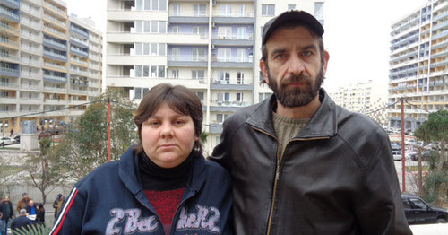 "Mardiros Demerchyan with his wife. Photo by Svetlana Kravchenko for the ""Caucasian Knot"""