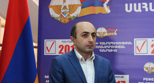 "Ike Khanumyan, the Chairman of the party ""National Revival"". Photo by Alvard Grigoryan for the ""Caucasian Knot"""