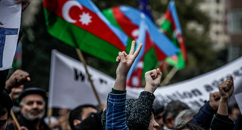 "Rally in Baku. November 2014. Photo by Aziz Karimov for the ""Caucasian Knot"""