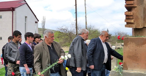 Village of Maraga (Martakert District of Nagorno-Karabakh) hosts action in memory of people who fell victim to the tragic events of 1992. April 10, 2017. Photo by Alvard Grigoryan for the 'Caucasia Knot'.