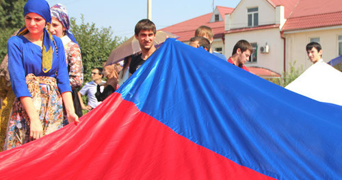 "Celebration of the State Flag in Grozny. Photo by Magomed Magomedov for ""Caucasian Knot"""