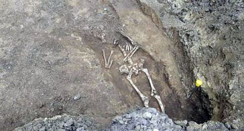 An ancient burial, presumably made about 2000 years ago, found in the centre of Rostov-on-Don, in Stanislavsky Street. Photo by the community Rostov Glavny - the news of Rostov-on-Don