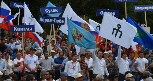 The All-Russian Nogai People's Congress. The aul (village) of Terekli-Mekteb of the Nogai District of Dagestan, June 14, 2017. Photo courtesy of the Congress organizing committee