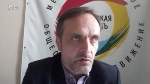 "Igor Kochetkov, the leader of the ""Russian LGBT Network"". Photo https://www.svoboda.org/a/28495644.html"