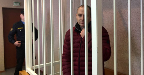 Alexander Lapshin in the courtroom. Photo: RFE/RL