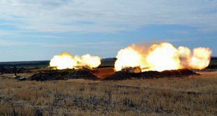 Military drills in Azerbaijan, June 2017. Photo from website of the Azerbaijani Ministry of Defence