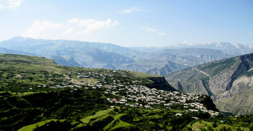 "The Khunzakh District of Dagestan. Photo: the ""Selsky Truzhenik"" newspaper http://www.odnoselchane.ru/"