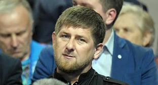 Ramzan Kadyrov during the hotline with the Russian President Vladimir Putin, Aprul 17, 2014. Photo: Kremlin.ru