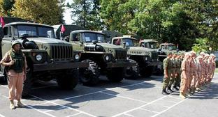 Russia has delivered military equipment to the Armed Forces of Abkhazia. September 21, 2017. Photo http://www.apsnypress.info/news/rossiya-peredala-vooruzhennym-silam-abkhazii-voennoe-imushchestvo-/