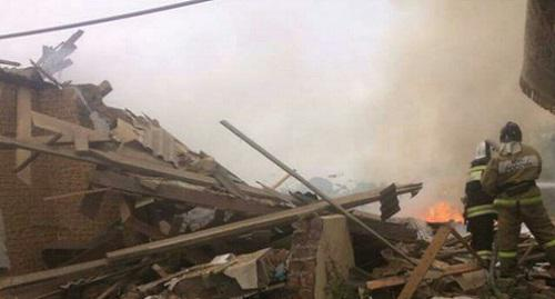 "Photo of the destruction of houses in the village of Uritsky, published on October 2, 2017, by the ""Golos Dagestana"" (""Voice of Dagestan"") community on Instagram"