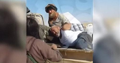 Still picture from the video showing captivity of the Cossack Roman Zabolotniy in Syria: https://www.youtube.com/watch?v=2QkDaZNGxsY