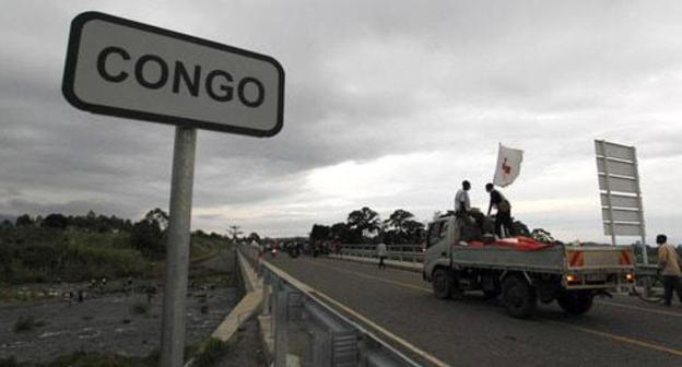 The border between Uganda and the Republic of the Congo. Photo REUTERS/Thomas Mukoya