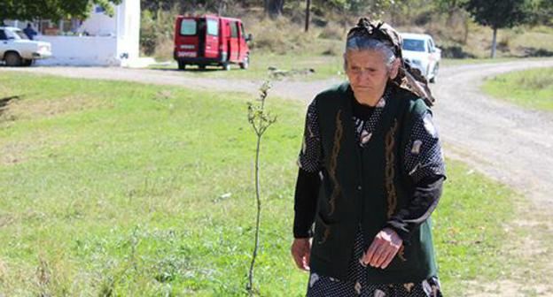 "Anet, an elderly woman from the Karabakh village of Talish. Photo by Alvard Grigoryan for the ""Caucasian Knot"""