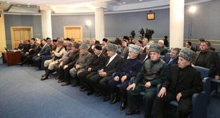 A general session of the Council of Ingush People Teips. Photo http://ingushetia.tv/news/019708/
