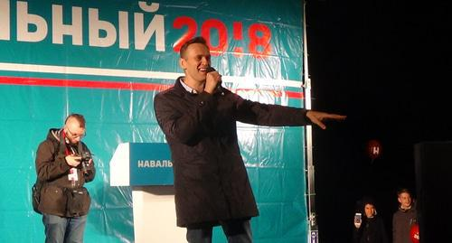 Alexei Navalny at rally in Astrakhan. Photo by Elena Grebenyuk for the Caucasian Knot.