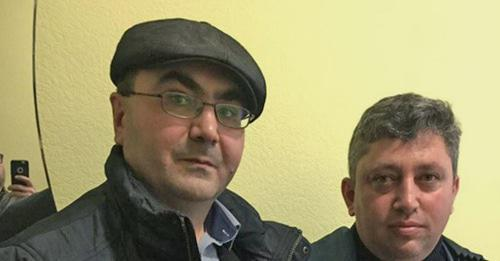 Azerbaijani activist Yalchin Gakhramanogly and journalist Fikret Guseinov (right). Photo: Yalchin Gakhramanogly, RFE/RL