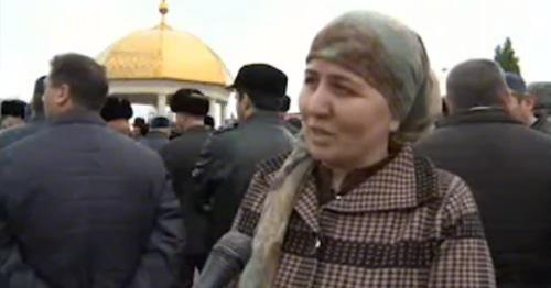 Khulimat Torshkhoeva, Isa Gambotov's wife. Photo: screenshot of the video on YouTube