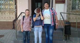 Anastasiya Deyneka, Yelena Kulikova and Fyodor Laptev. Photo http://www.donnews.ru