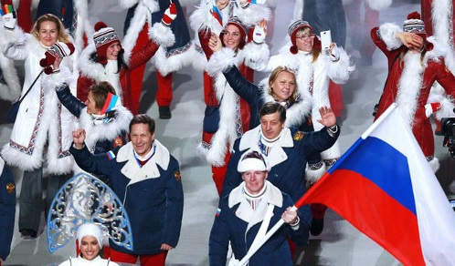 Opening ceremony of Sochi Olympic Games, February 7, 2014. Photo by press service of Russian government, http://government.ru