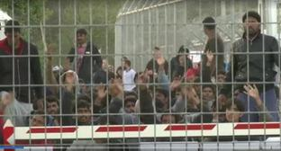 A deportation camp in Turkey. Photo: screenshot of the video of the Channel One