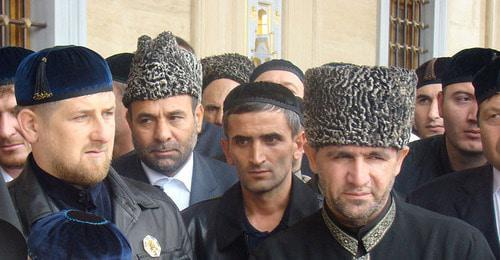 Ramzan Kadyrov (left). Photo: Juerg Vollmer https://ru.wikipedia.org