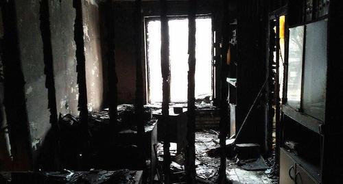"Office of the Human Rights Centre (HRC) ""Memorial"" after fire. Photo: HRC ""Memorial"" http://stagram.online/share/BeCuWZsldPI"