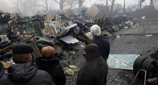 Barricades in the center of Kiev. March 2014. Photo: REUTERS/Kevin Lamarque