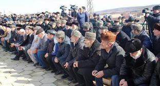 "Akkin Chechens at the rally on February 23, 2017. Photo courtesy of Imampashi Chergizbiev for the ""Caucasian Knot"""