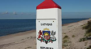 "A boundary pillar on the border with Latvia. Photo by Roman Nuriev for the ""Caucasian Knot"""