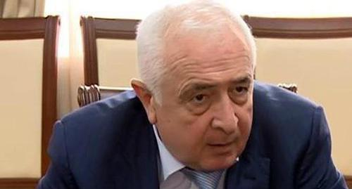 Minister of Construction of Dagestan Ibragim Kazibekov. Screenshot from YouTube Channel of 'Dagestan' TV Company