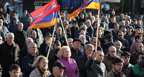 "The participants of the opposition rally in Yerevan demanded reforms. March 10, 2018. Photo by Tigran Petrosyan for the ""Caucasian Knot"""