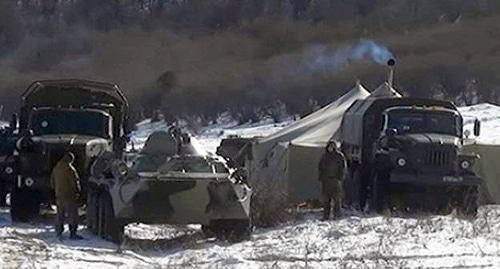 Law enforcers conduct special operation in Ingushetia mountains. Photo: NAC press service, http://nac.gov.ru