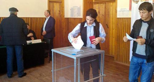 "Presidential elections in Dagestan. Photo by the ""Caucasian Knot"" correspondent"