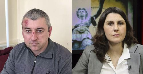 Sirazhudin Datsiev (left) and Ekaterina Sokiryanskaya. Collage by the Caucasian Knot. Photo: Ekaterina Sokiryanskaya, press service of Radio Liberty (RFE/RL)