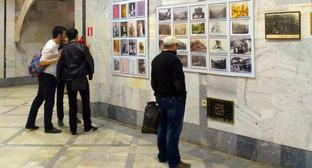 "Visitors of the exhibition ""Towers of the Caucasus: Dagestan and Ingushetia"", Makhachkala, April 2018. Photo by Ilyas Kapiyev for the ""Caucasian Knot"""