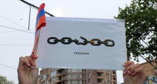 Banner of the protest action against Serzh Sargsyan. Photo by Tigran Petrosyan for the Caucasian Knot.